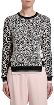 Stella McCartney Animal Print Patchwork Wool Sweater