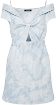 Thakoon Faded Denim Cut Work Dress