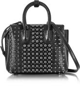 MCM Black Mini Milla Pearl Studs Tote Bag