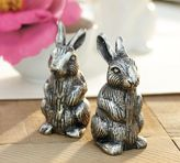 Pottery Barn Antique Bunny Salt & Pepper Shakers