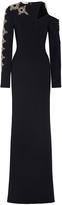 Antonio Berardi Long Sleeves Embellished Gown