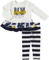 Petit Lem London Style Legging Set (Baby) - Beige-6 Months
