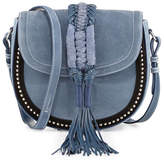 Altuzarra Ghianda Studded Suede Saddle Bag, Denim