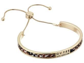 GUESS Slider Faux Leather Bangle Bracelet