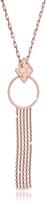 Rebecca Melrose Rose Gold Over Bronze Cuff Necklace w/Geometric Charms
