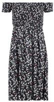 Dorothy Perkins Womens Izabel London Black Floral Print Bardot Dress, Black