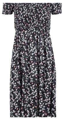 Dorothy Perkins Womens *Izabel London Black Floral Print Bardot Dress, Black