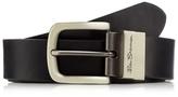 Ben Sherman Black Coated Leather Reversible Belt