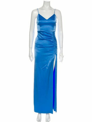 Alice + Olivia V-Neck Long Dress Blue