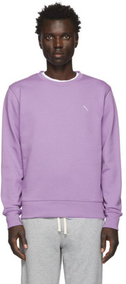 Saturdays NYC Purple Bowery Slash Sweatshirt