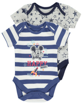 Disney George 2 Pack Mickey Mouse Bodysuits
