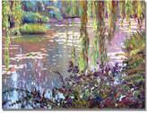 "David Lloyd Glover 'Homage to Monet' 35"" x 47"" Canvas Wall Art"