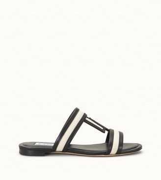 Tod's Sandals in Leather and Canvas