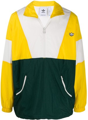 adidas Originals colour-block logo track jacket