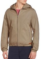 Michael Kors Solid Cotton Hooded Jacket