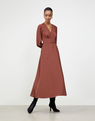 Lafayette 148 New York Luxe Stretch Crepe De Chine Somerby Dress