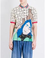 J.w. Anderson Graphic-print Cotton-piqué Polo Shirt