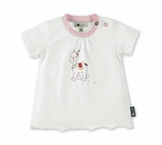 Sterntaler Girls T-Shirt Lottie the Llama Motif Age: 6-9 Months Size: 9-12m White/Pink