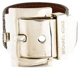 Michael Kors Leather Buckle Bracelet