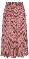 Maje Joaklyn Floral Midi Skirt