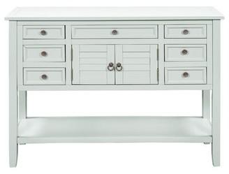 "Longshore Tides Waldorf 45.3"" Console Table Color: White"