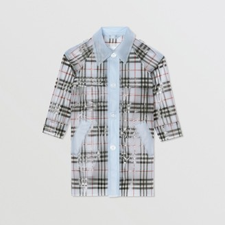 Burberry Childrens Check Print Showerproof Trench Coat