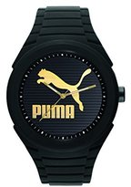 Puma 'PU10359 Gummy Cat' Quartz Plastic and Silicone Casual Watch, Color:Black (Model: PU103592016)