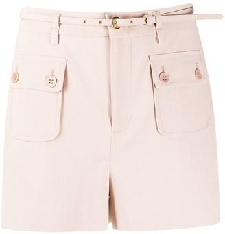 RED Valentino Belt Detail Gabardine Shorts