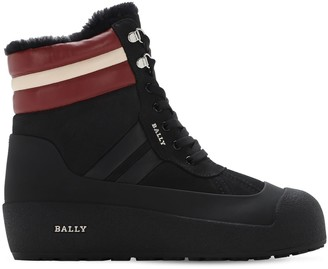 Bally Curling Leather Ski Boots W/ Shearling