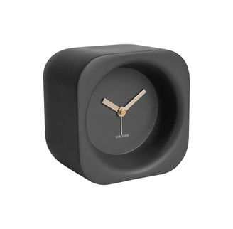 Karlsson Chunky Poly Resin Alarm Clock - Black