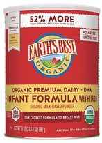 Earth Earth's Best Organic Infant Formula with Iron - 35oz