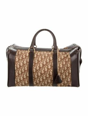 Christian Dior Vintage Diorissimo Duffle Bag Brown