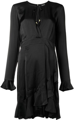 Just Cavalli wrap around frill dress