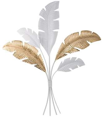 A&B Home Suvi Feather Bouquet Wall Art, Gold