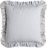 French Laundry Home European Ticking-Stripe Sham with Ruffle