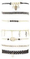 Charlotte Russe Leaf Charm Layering Bracelets - 7 Pack