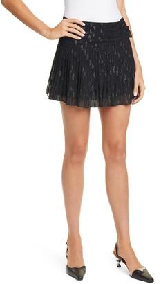 Ramy Brook Jenny Pleated Miniskirt