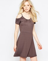 Vila Cold Shoulder Jersey Dress