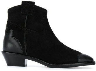 See by Chloe Leather Panelled Ankle Boots