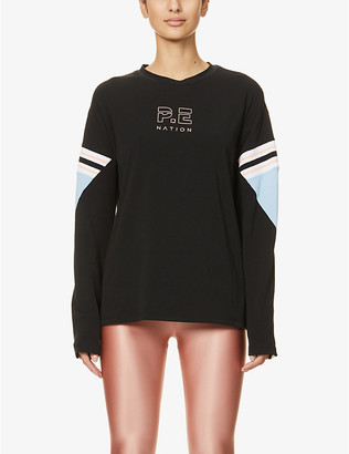 P.E Nation Ariel Drop cotton-blend top