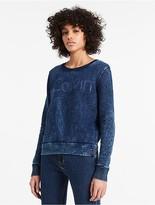 Calvin Klein Jeans Crushed Indigo Logo Sweatshirt