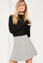 Missguided Grey Jersey A Line Skirt