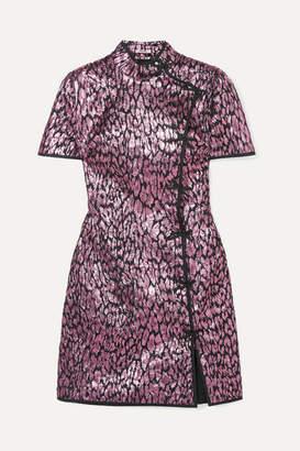 Miu Miu Metallic Jacquard Mini Dress - Pink