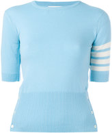 Thom Browne cashmere shortsleeved knit top - women - Cashmere - 40
