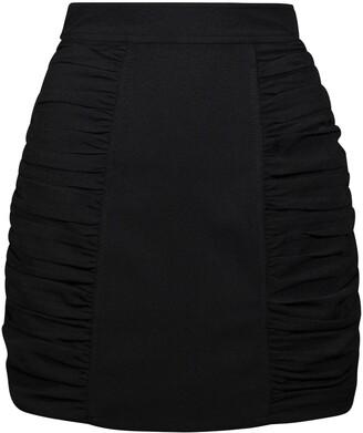 Ganni Heavy Crepe Mini Skirt