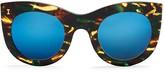 Illesteva Mirrored Box II Sunglasses, 47mm