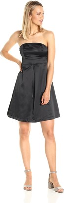 Paris Sunday Women's Strapless Sateen Shift Dress