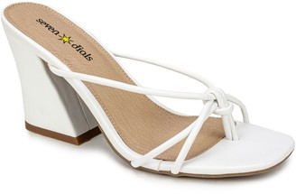 Seven Dials by White Mountain Block Heel Sandals - Chester