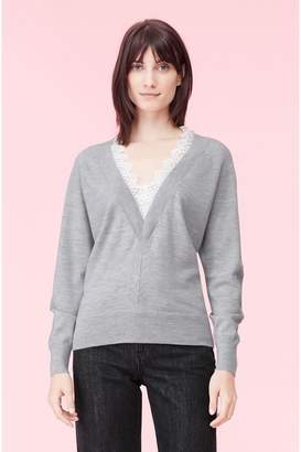 Rebecca Taylor Lace Combo Pullover