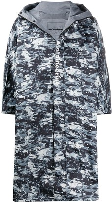 White Mountaineering Camouflage-Print Hooded Jacket